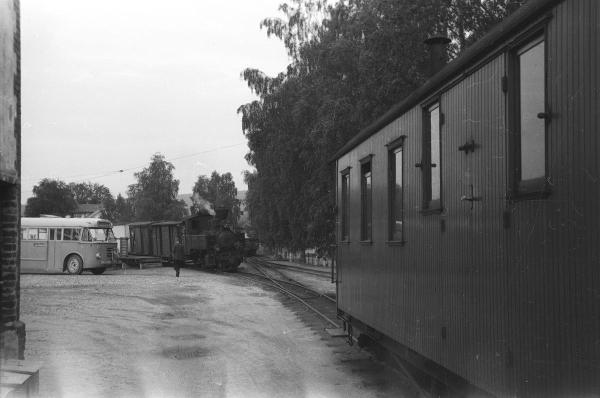 Skifting på rampesporet på Sørumsand stasjon.