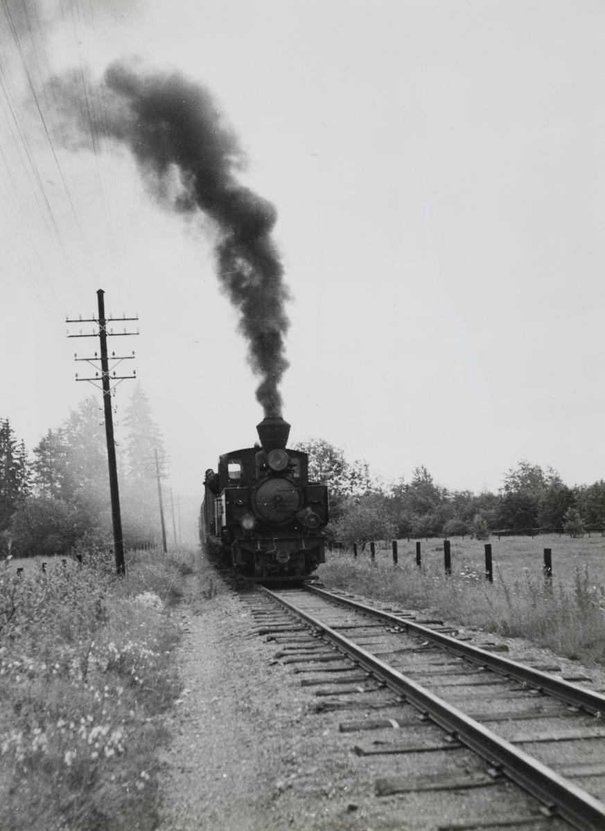 Siste ordinære tog retning Sørumsand.