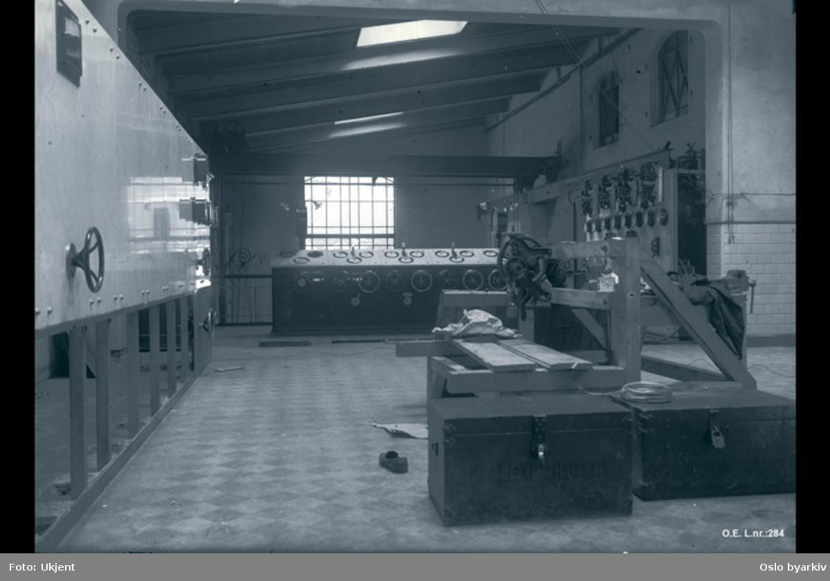 Dampstasjonen, apparatgalleri sett fra Homansbystasjon