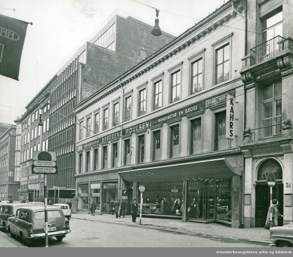 Kongensgate 29, nabogården til .varemagasinet Steen & Strøm, (nå revet).april 1963