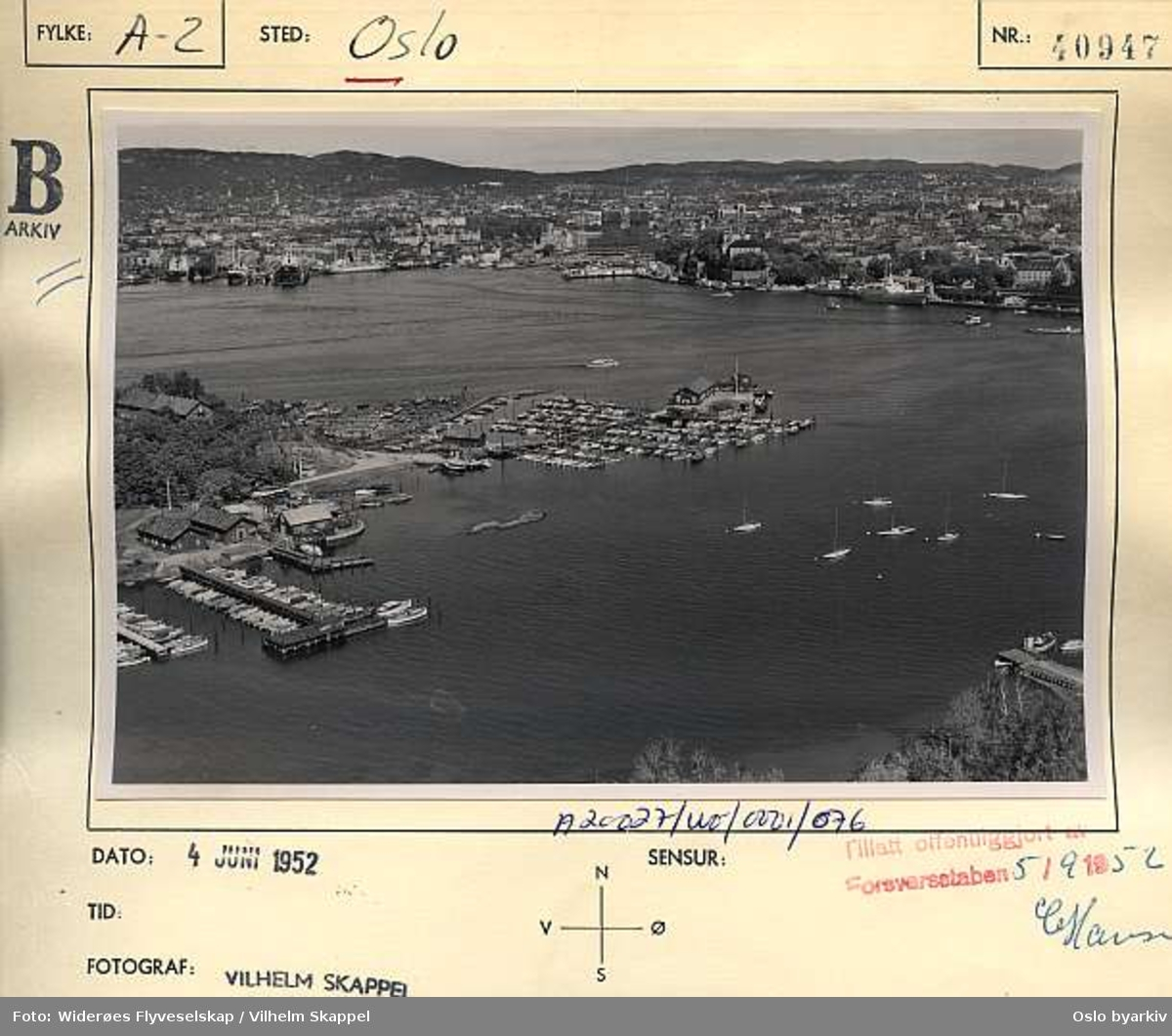 Oslofjorden, Hovedøya (Flyfoto)