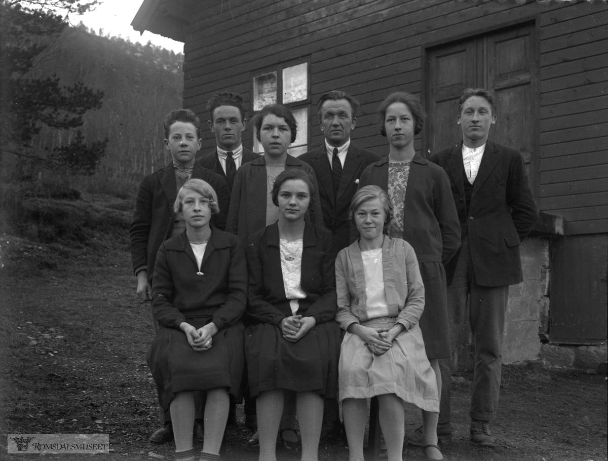 Risans framhaldskole i 1929.