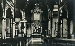 Interiør fra Molde kirke.