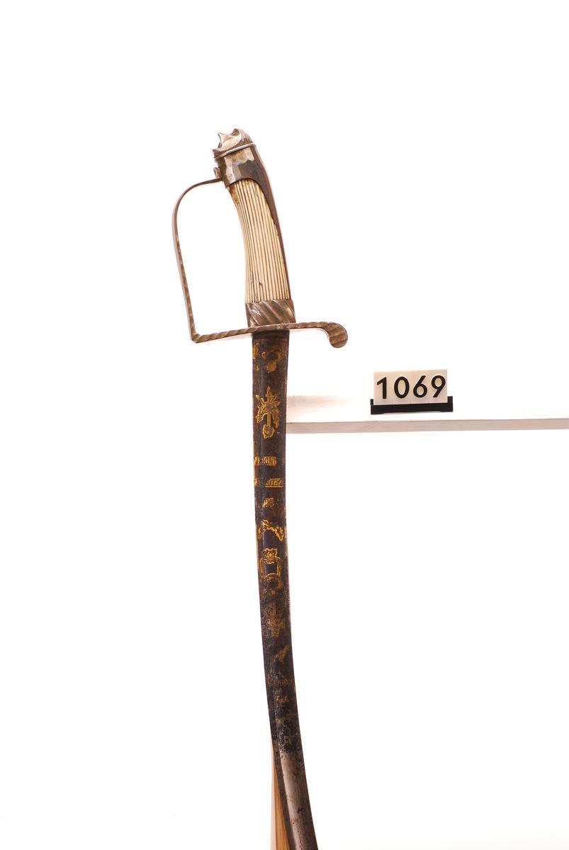 Offiserssabel M1789 (jernfestet variant)