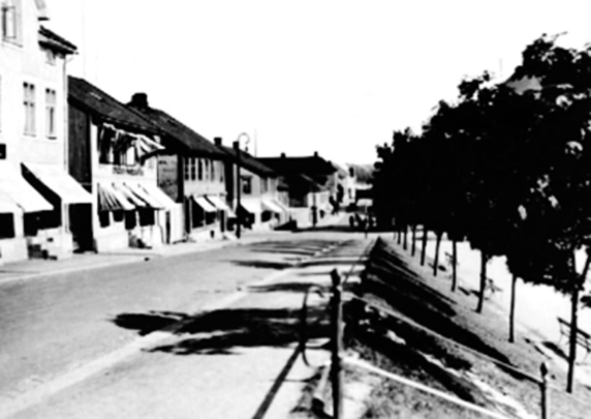EKSTERIØR GRØNNEGT. 47-41, TRÆR LANGS ØSTRE TORG