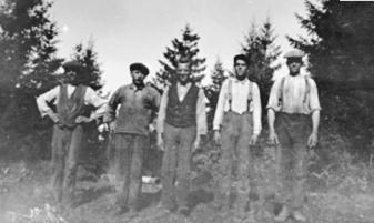 GRUPPE: 5 MENN, ARBEIDERE, NYHUS LAG, HAMAR VANNVERK