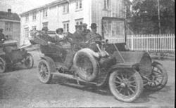 FAMILIEN AALSTAD PÅ TUR, ÅLSTAD. Humber ca 1909-1910, sannsy
