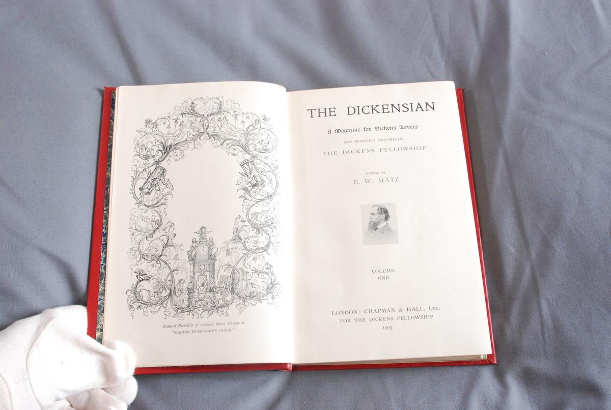 Forsider til magasinene innlimt bakerst i boken.