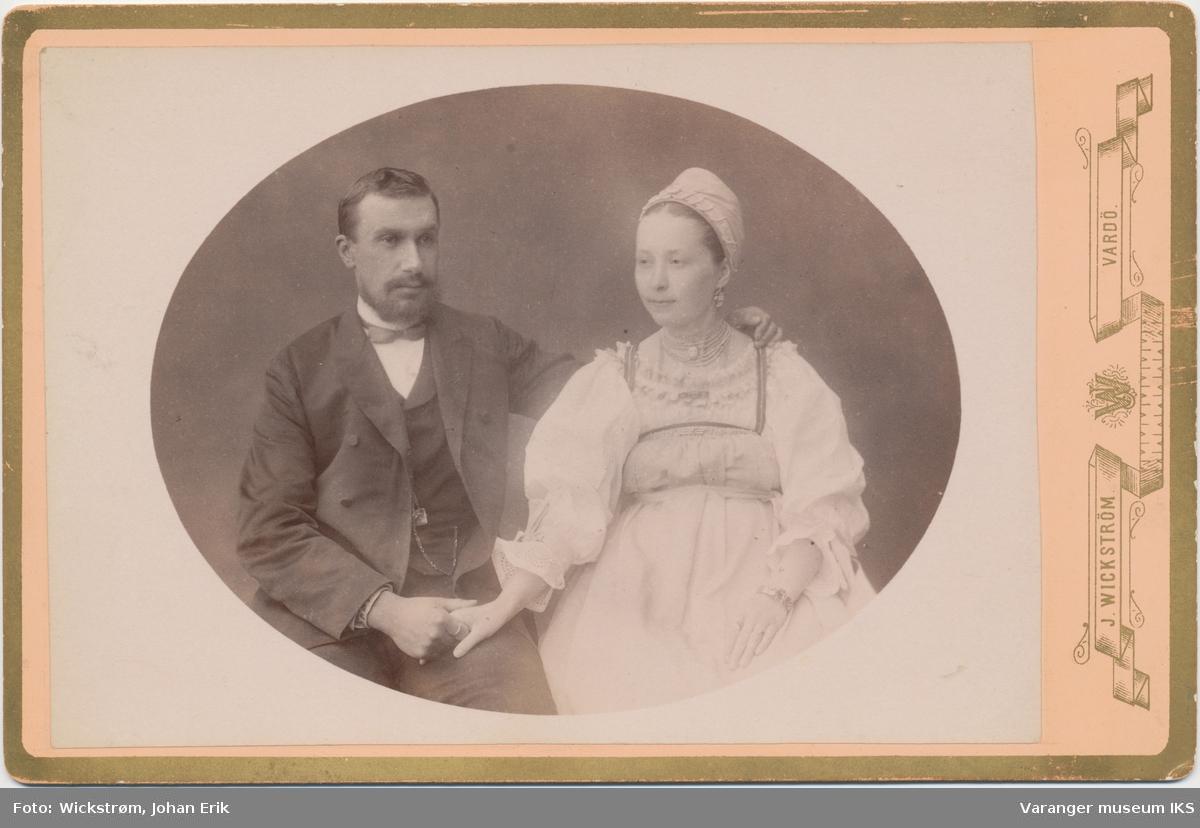 Dobbeltportrett, russisk ektepar i Vardø