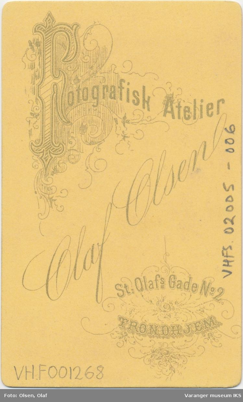 Portrett, Elisabeth Brodtkorb, ca. 1870