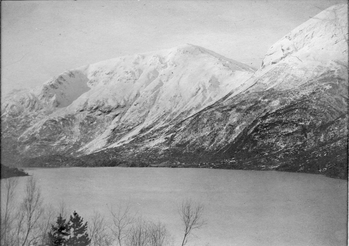 Natur, landskap, fjell, fjord, vinter, Ruklenuten, Klungersete, Tokheimsnuten, Sørfjorden, Eitrheimsneset