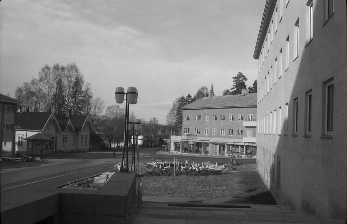Storgata, rådhusplassen. Leiret. Elverum.