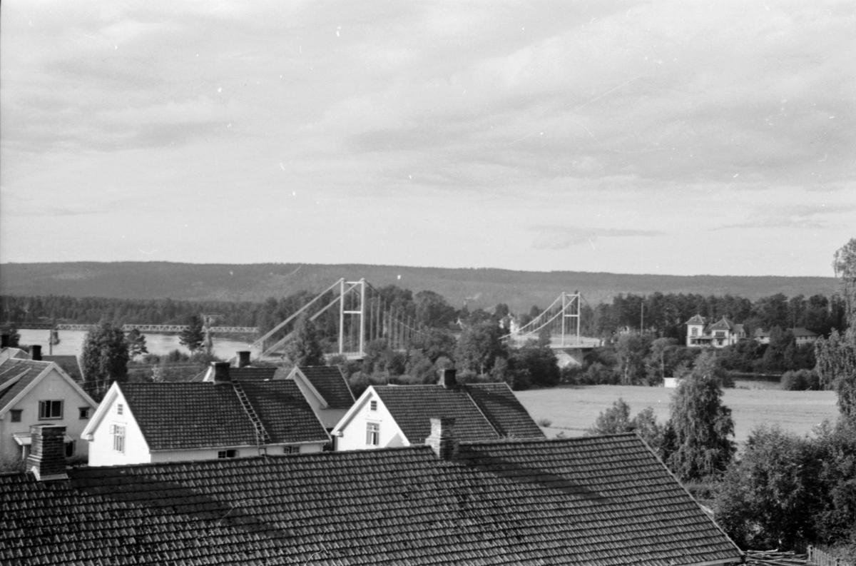 Utsikt fra taket av messehallen mot Nybrua