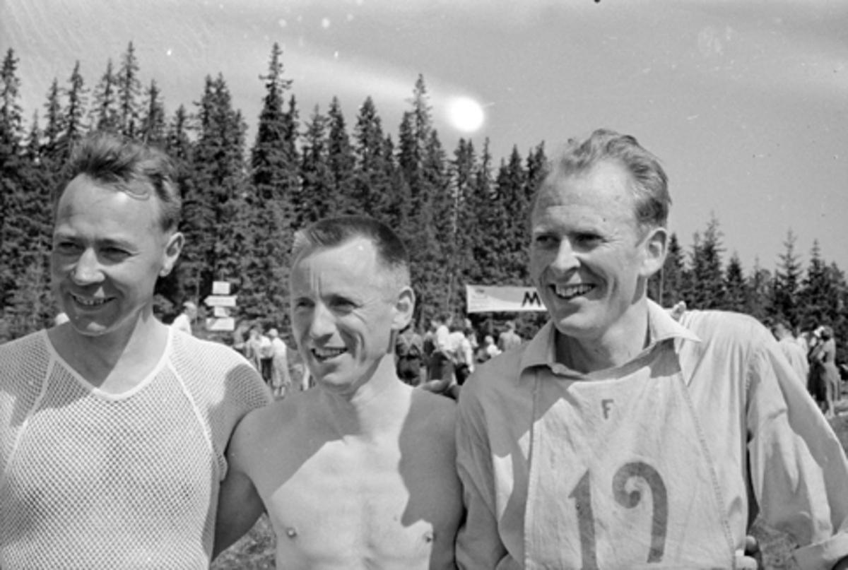 Hamar Idrettslag, gruppe 3, orienteringsløpere, ukjente.
