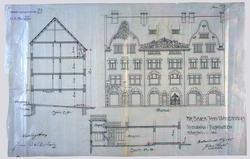 Hr. Bager John Walderhaugs nybygning i Toldbodgaden. [Fasade
