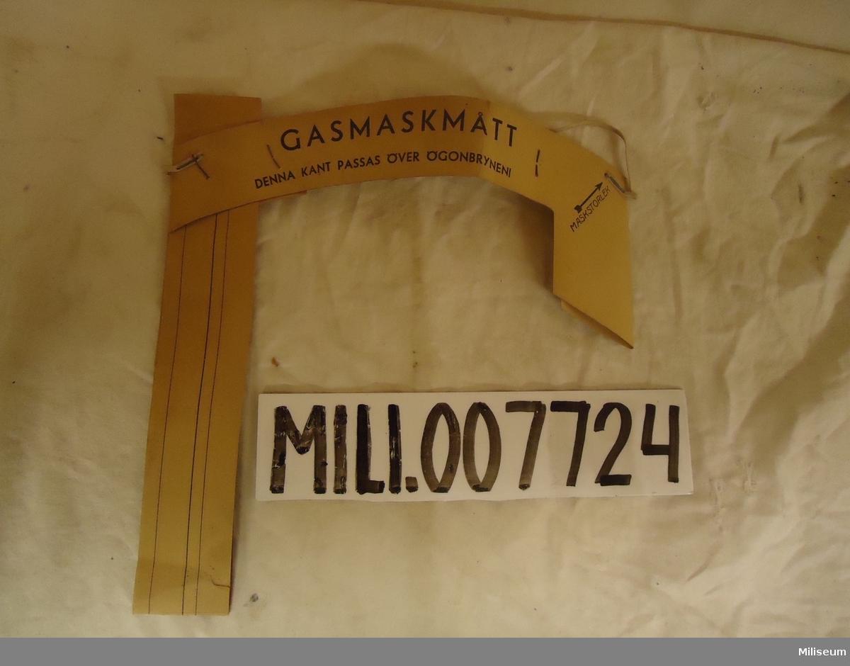 Gasmaskmått, för utprovning av gasmask m/23 och m/31.