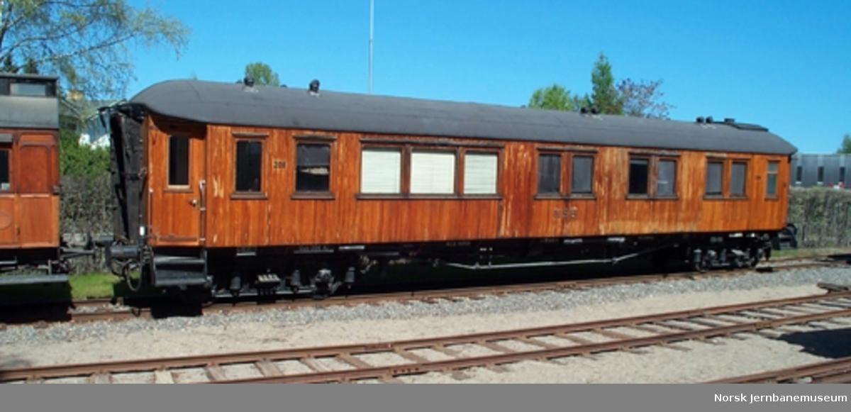 Kongevogn NSB litra Ao nr. 206 - Salongvogn for Kong Haakon 7.