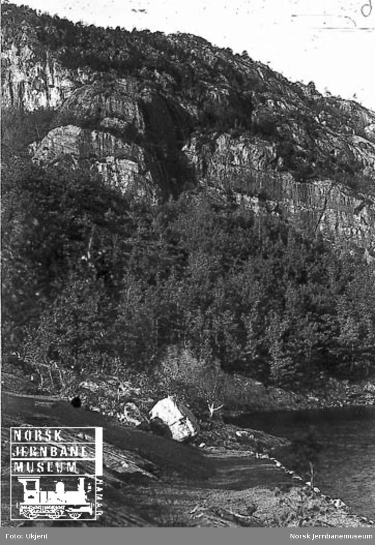 Fra Flekkefjordbanen før anlegget, parti fra Lafjellet