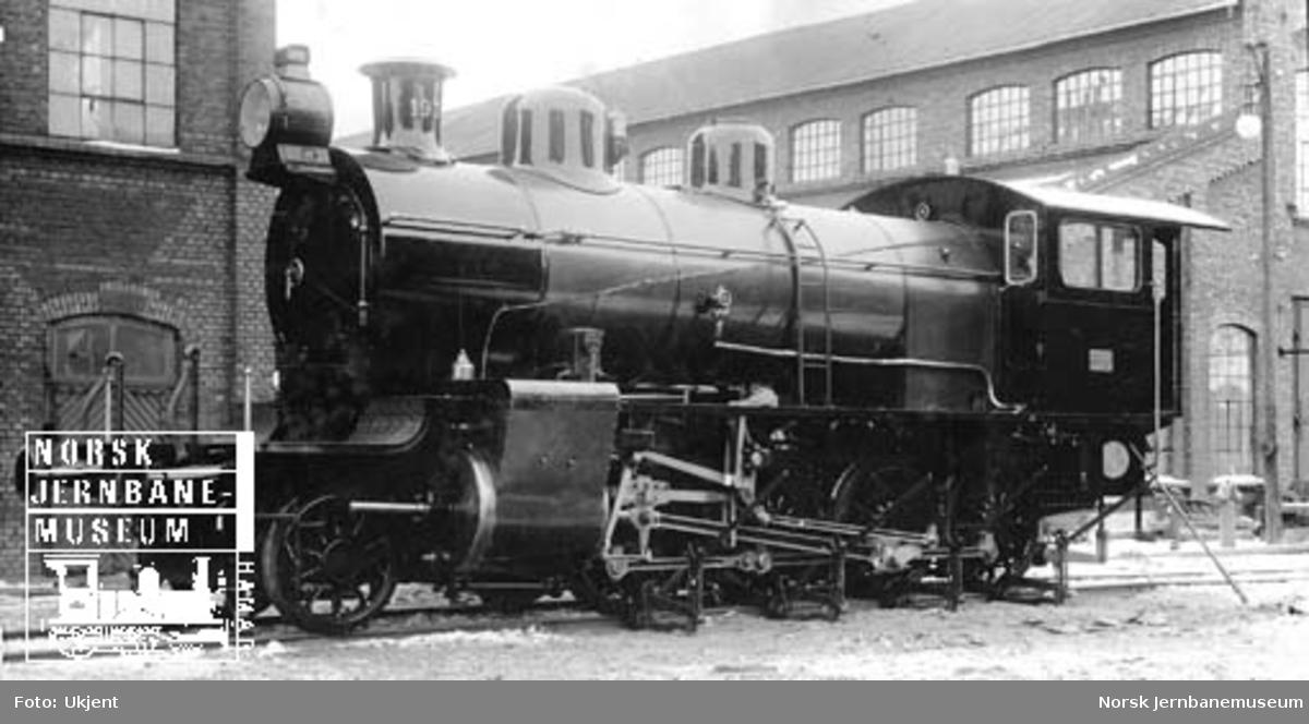 Damplokomotiv type 22a nr. 193 under veiing før levering