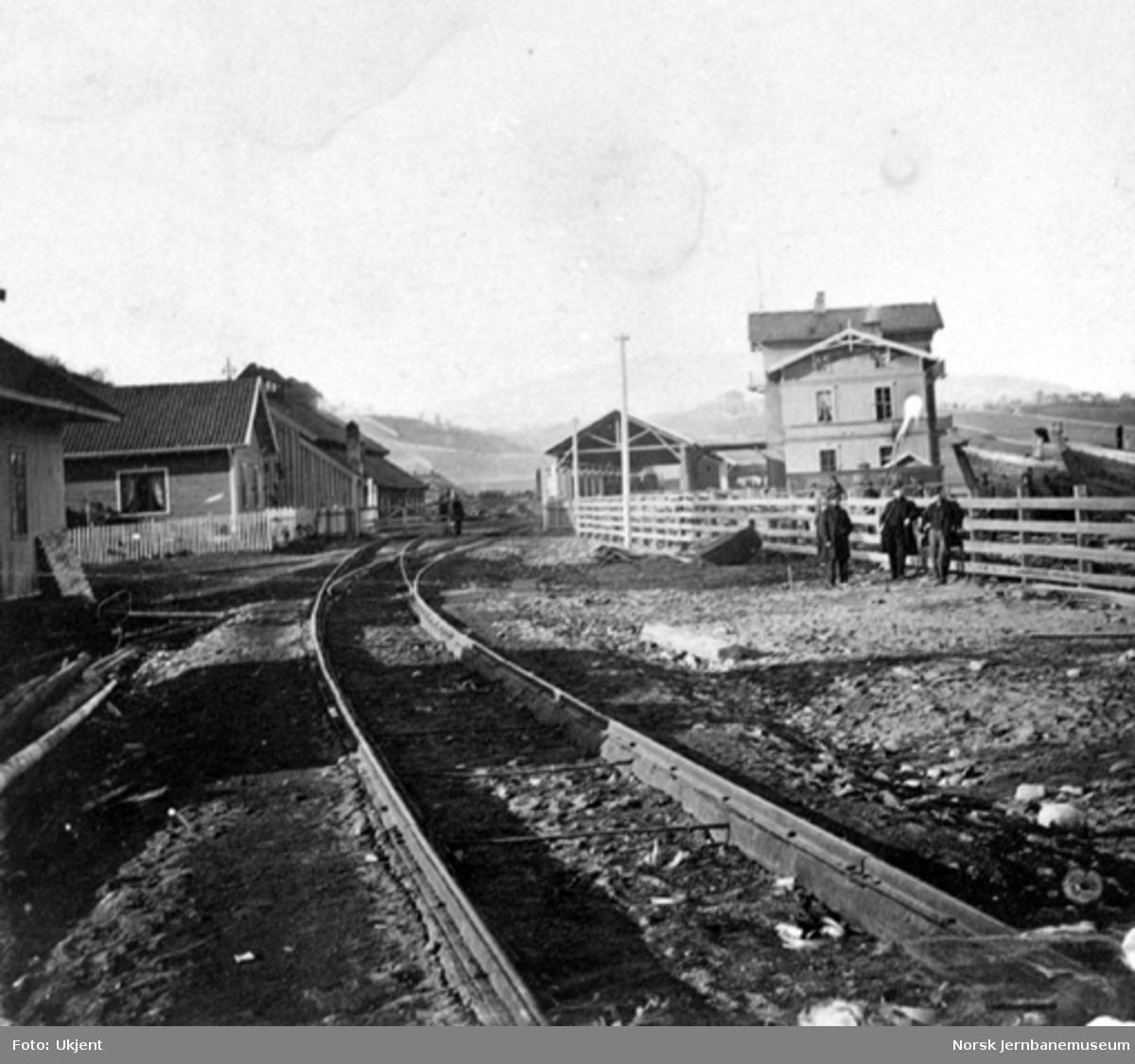Eidsvoll stasjon sett sørfra