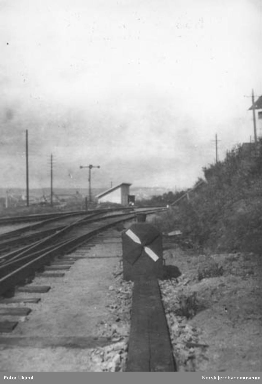 """Tøyen stasjon : sporvekselsignal for dobbelt sporveksel, """"engelskmann"""""""