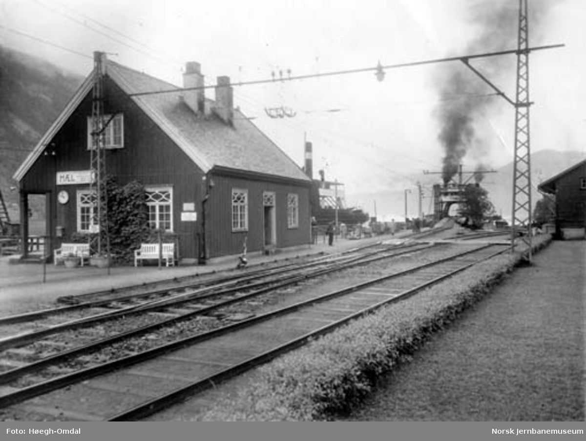 Massetransport Borgestad-Rjukan : Mæl stasjon