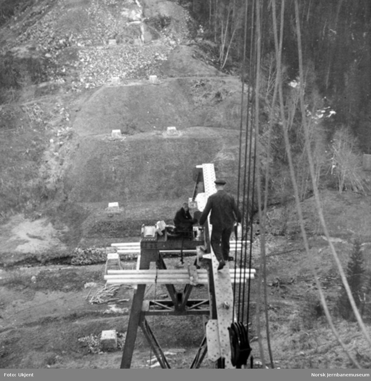 Trolldalen viadukt under bygging : spenn 3