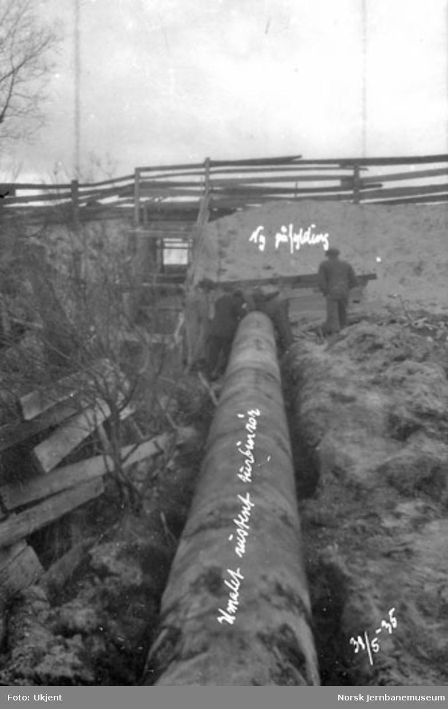 Røsten dam, turbinrør
