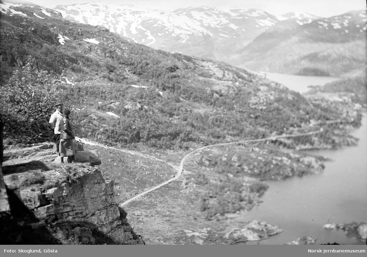 Anleggsvegen mellom Kleva og Vatnahalsen, sett fra Bergensbanen