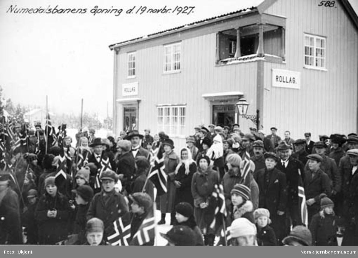 Numedalsbanens åpning : Rollag stasjon