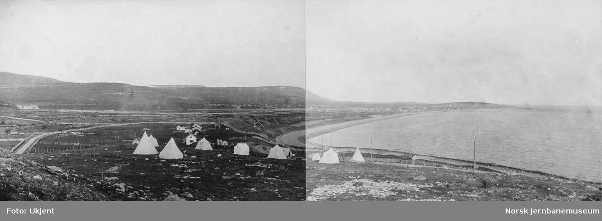 Jernbanestikking i Finnmark : stikningslagets leir ved Vestre Jakobselv